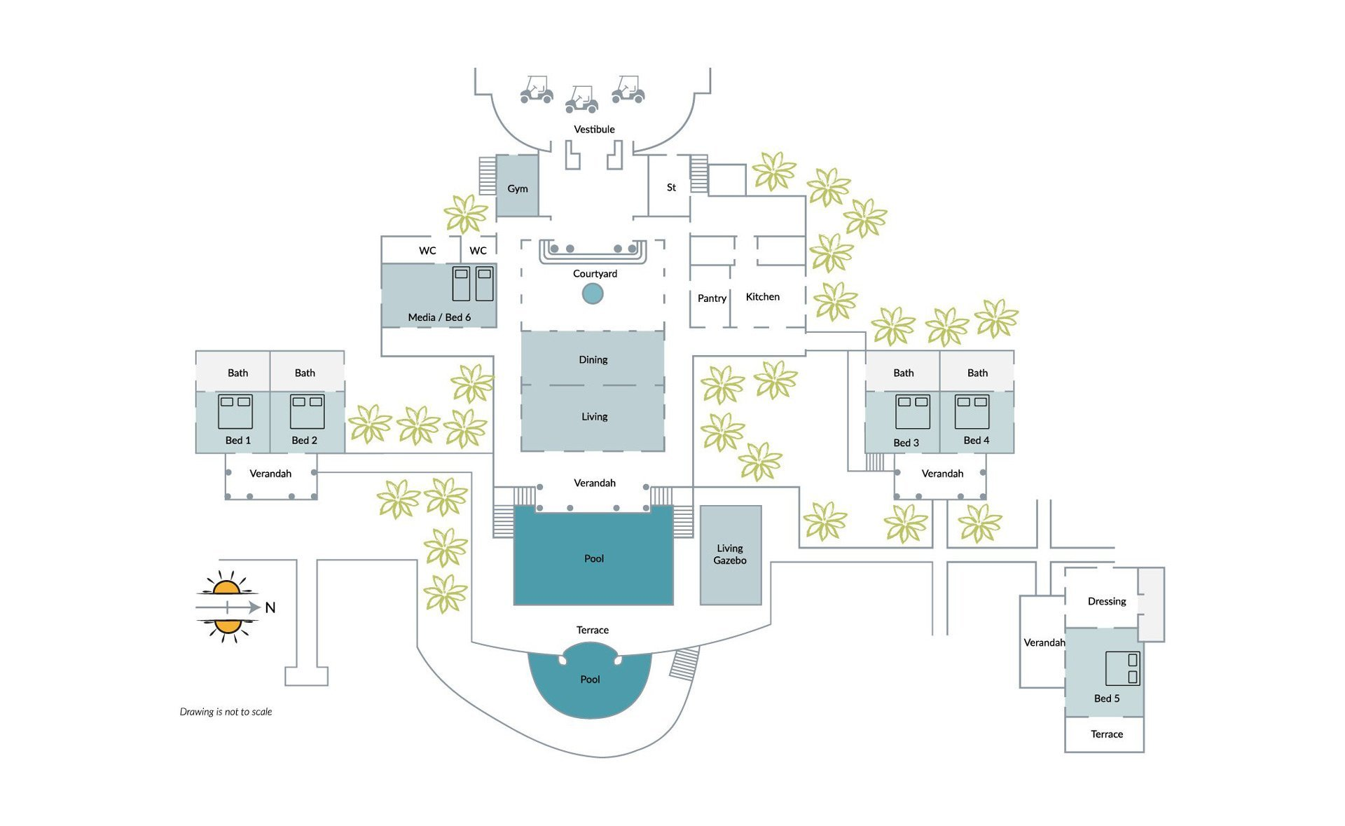 View the floorplan of Sienna Mustique